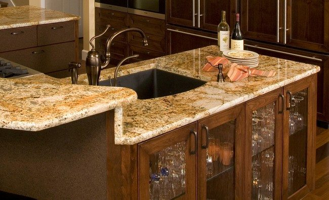 kitchen island with sink and stove top color for cabinets unique countertop designs you can adopt - decor ...