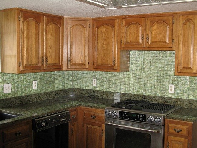 Grey Cabinets Color Wall Green Kitchen