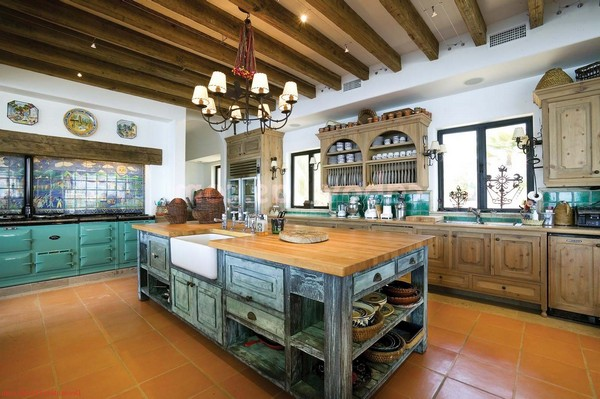 rustic kitchen island lighting organizing cabinets spanish style - beautiful design ideas you can ...