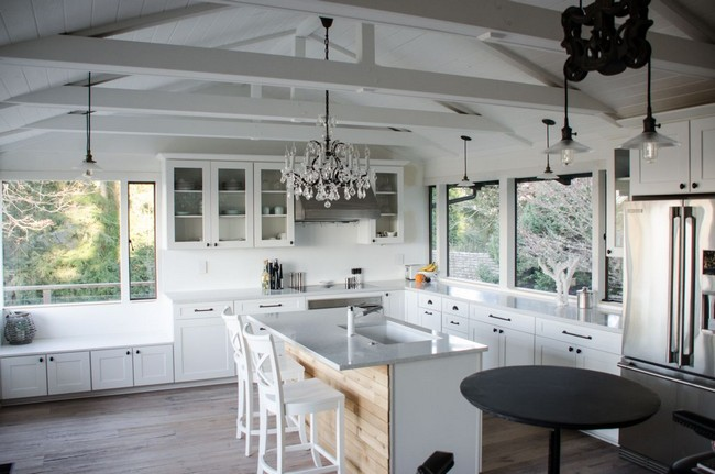 how much is a kitchen remodel cart with wheels slanted ceilings for unique touch in your home's ...