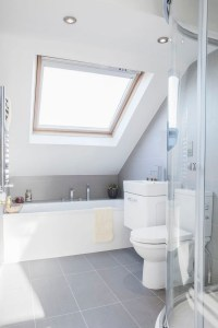 bathrooms with sloped ceilings | www.Gradschoolfairs.com
