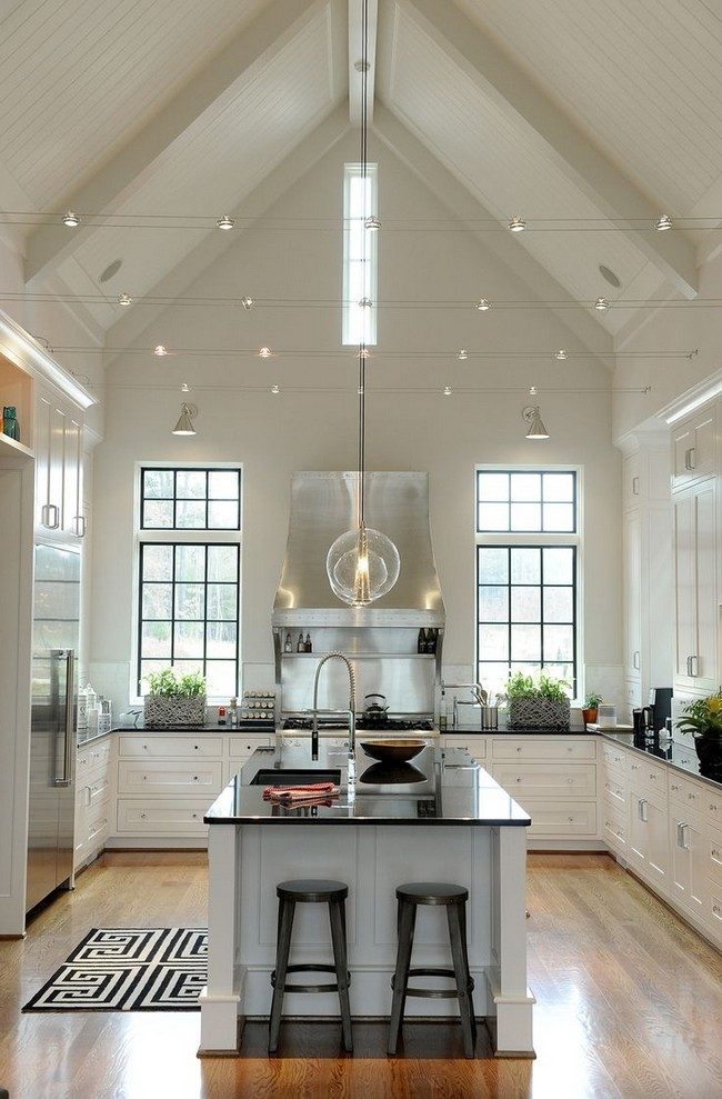 kitchen island lights antique metal cabinet slanted ceilings for a unique touch in your home's ...