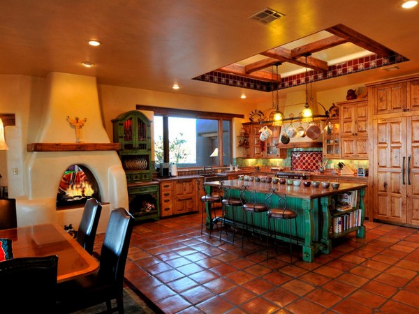 spanish style kitchen tiles floor ideas Spanish Style Kitchen - Beautiful Design Ideas You Can