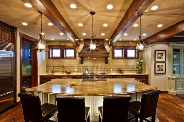 kitchen overhead lights aid range hood luxury kitchens: how to refine your cooking and dining ...