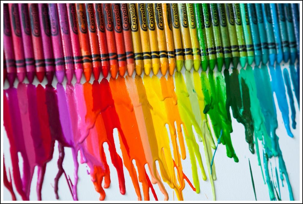 Come fare melted crayon art con pastelli a cera su tela