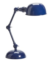 Navy Blue Harrison Bedside Task Lamp | Decor by Color