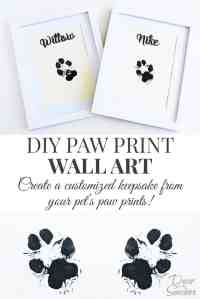 DIY Paw Print Wall Art - Decor by the Seashore