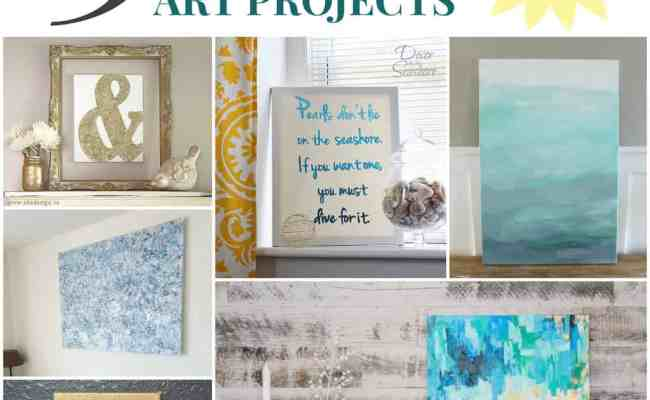 15 Beautiful Super Easy Diy Canvas Art Projects For The
