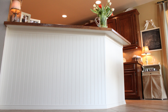 From Mediocre to Marvelous: A Beadboard Bar - Decor! on beadboard kitchen walls, beadboard butcher block kitchen, beadboard kitchen cabinets,