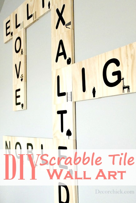 scrabble letter decor diy scrabble tile wall decorchick 24770