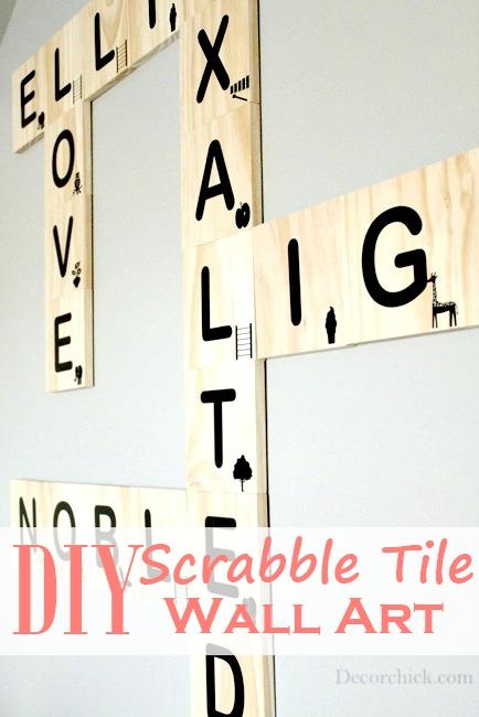 DIY Scrabble Tile Wall Art - Decorchick!