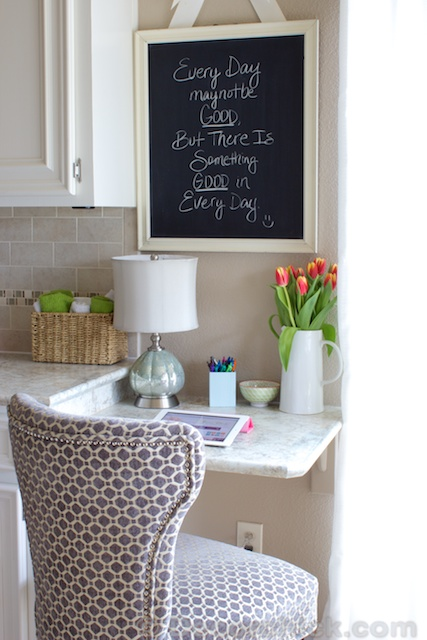 Making The Most Of Your Space Our New Kitchen BuiltIn Desk  Decorchick