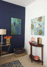 Blue Accent Wall - Decorchick!