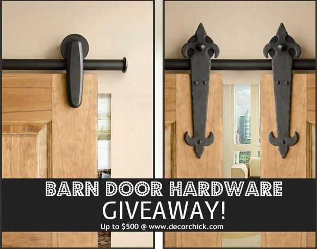 Rolling Barn Door Hardware Giveaway Rolling Door Designs Decorchick