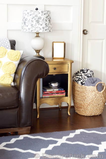 Gold Metallic Painted Side Table | Www.decorchick.com