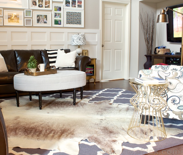 Layered Cowhide Rug | www.decorchick.com