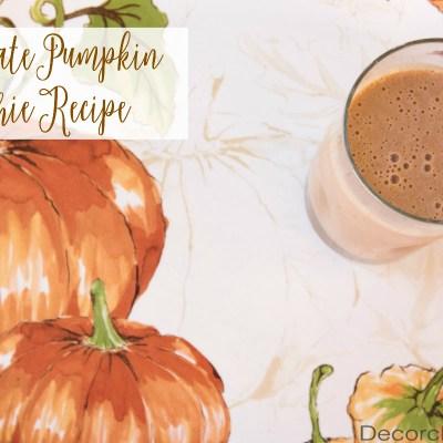 Chocolate Pumpkin Smoothie Recipe   Decorchick!®