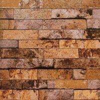 Yellow - Brown - Gold Brick Wallpaper Design - 5Sqm ...