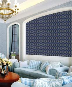 Blue and Gold Baroque wallpaper 15113 effct Sold in Nigeria by DecorCity