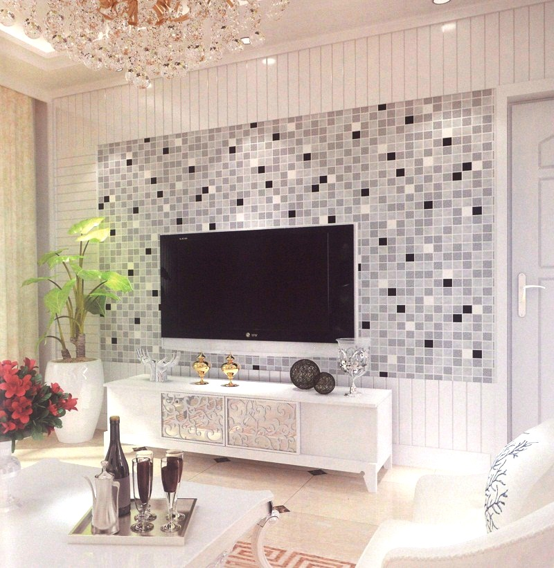 Black And Silver Checkers Patterned Wallpaper Design Decor City