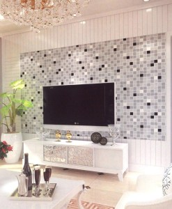 Black and Silver Checkers Patterned Wallpaper Design DD0050 - Sold in Nigeria by DecorCity