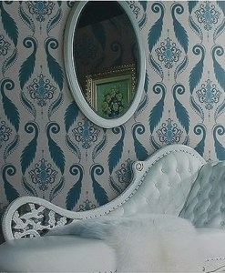 Blue, Luxury Floral Patterned Modern wallpaper DD0058 - Sold in Nigeria by DecorCity