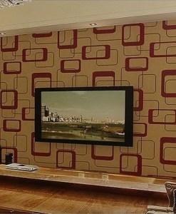 Gold and Auburn Modern wallpaper Design