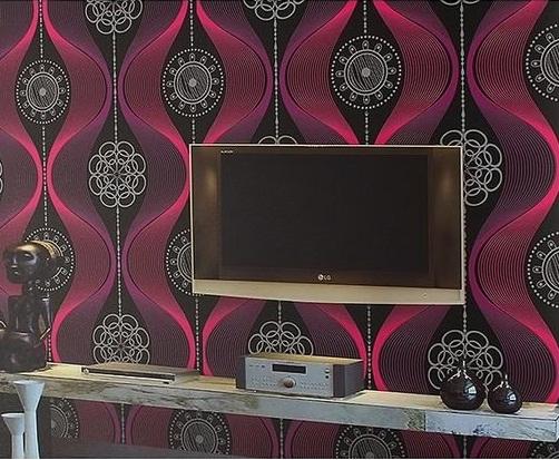 Purple Black And Crimson Modern Wallpaper Design Decor City
