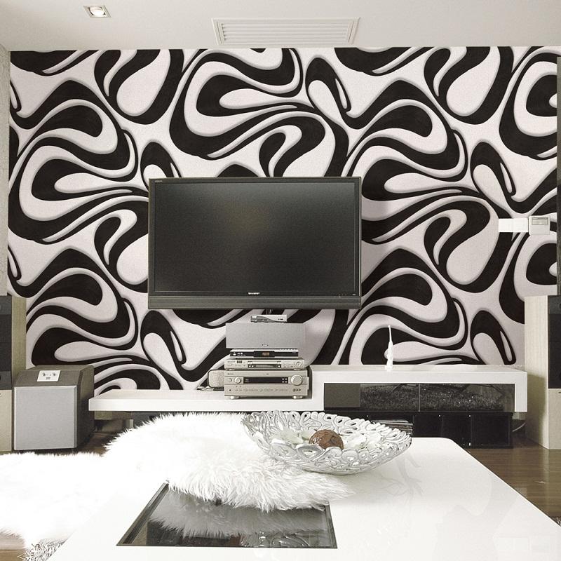 Black And White Modern Swirl Wallpaper Design 99022 Decor City