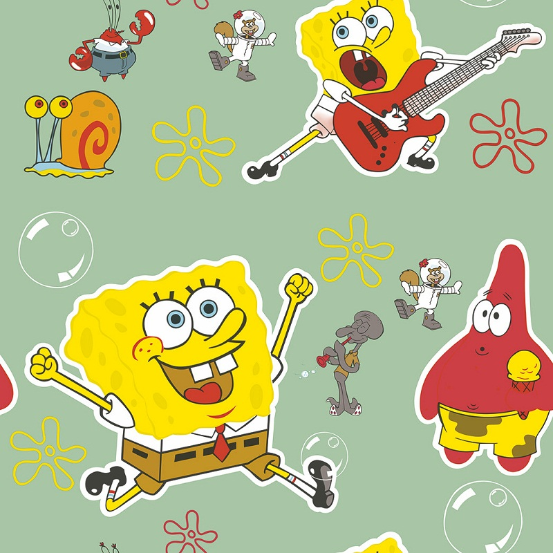 Spongebob Squarepants Kiddies Wallpaper Design 1509 Decor City