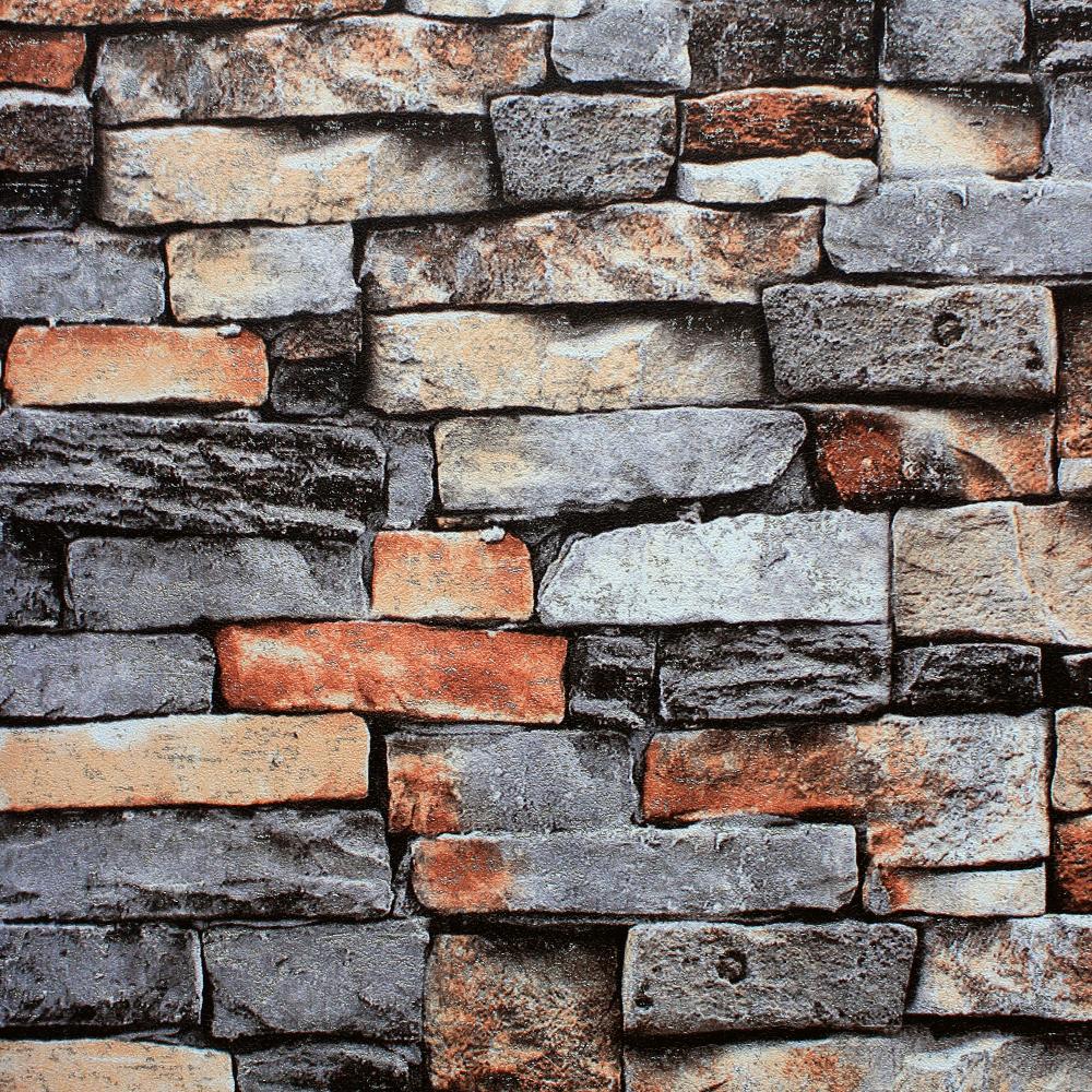 Multi Colour 3d Brick Wallpaper A47 8p86 Decor City