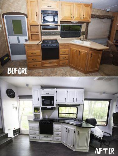 88 RV & Camper Van Remodel, Hacks Interior Decor Ideas
