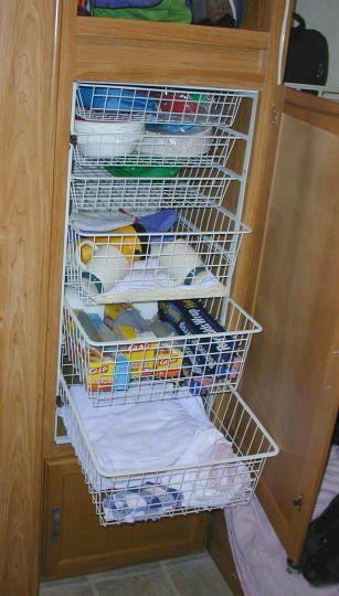Creative Camper Van & RV Storage 05 Ideas