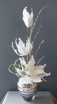 Christmas Winter Floral Arrangements Centerpieces