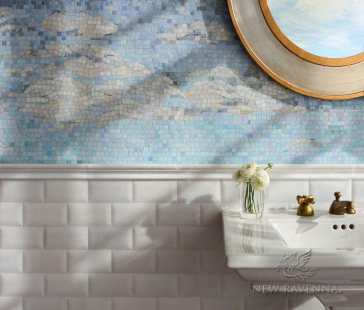 Sea Glass Backsplash Tile Ideas