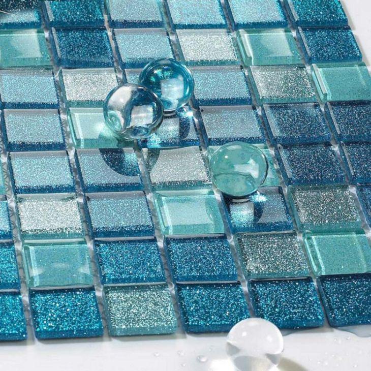 33 Glass Mosaic Bathroom Wall Tile