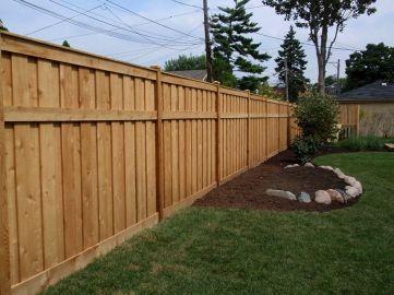 Back Yard Wood Fence Designs