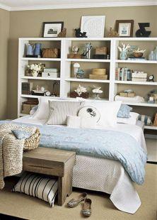 Bookshelves as Headboard