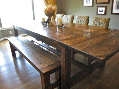 DIY Farmhouse Dining Room Tables