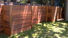 DIY Horizontal Privacy Fence Ideas