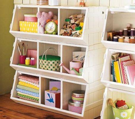 DIY Kids Room Toy Storage Bins