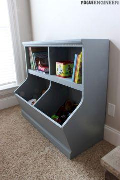 DIY Toy Storage Shelf