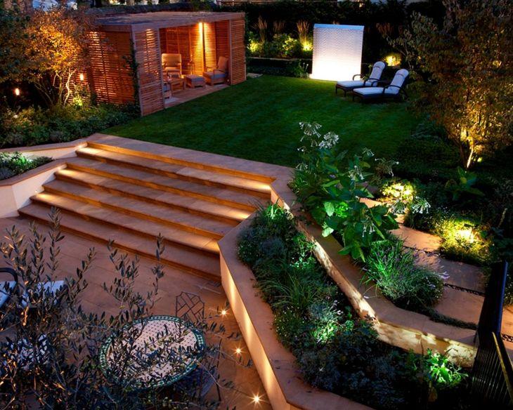 Garden Design With Beautiful Lighting Ideas