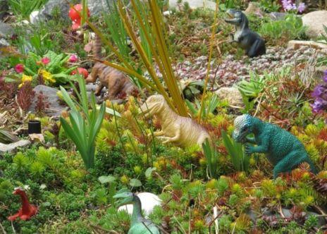 Dinosaur Garden Idea 41