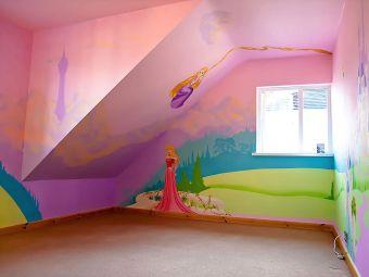 Disney Princess Bedroom Mural