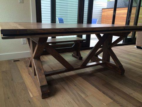 Farmhouse Table with X