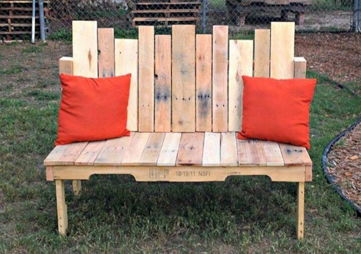 Low Budget Pallet Garden Bench Ideas