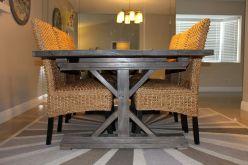 Gray Farmhouse Table