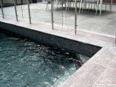 Black Granite Pool Tile Design