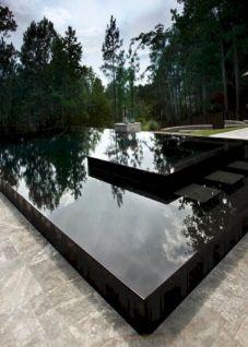 Black Swimming Pool Water
